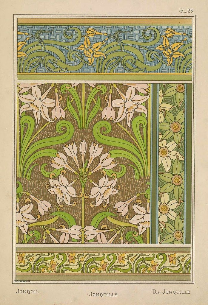 art nouveau decor.htm plants and their application to ornament  1896      the public  ornament  1896