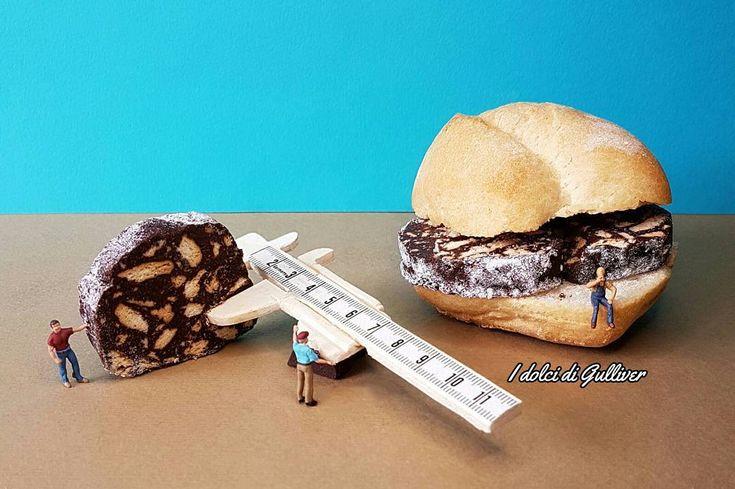 Per un buon panino con il salame occorre misurare lo spessore delle fette, facile  buon weekend amici For a good sandwich with salami is necessary to measure the thickness of the slices, easy