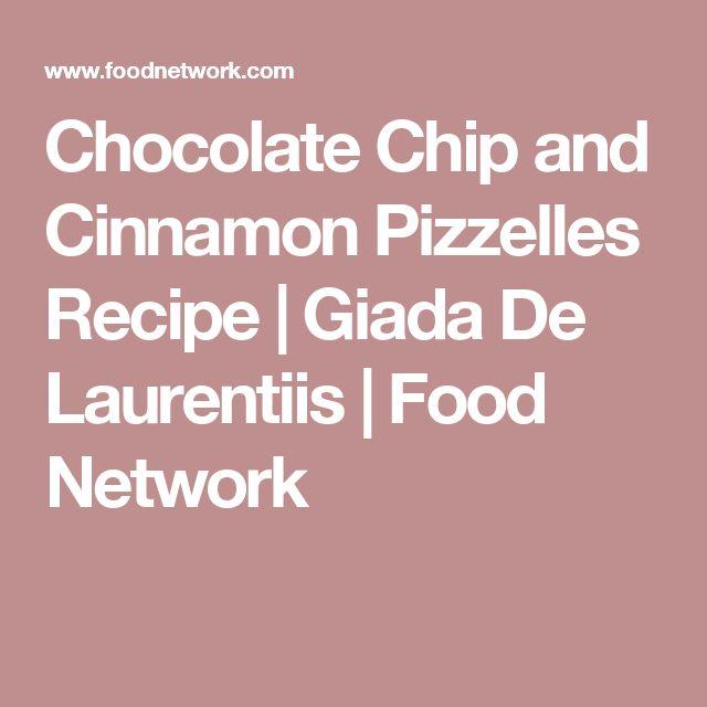 Chocolate Chip and Cinnamon Pizzelles Recipe | Giada De Laurentiis | Food Network