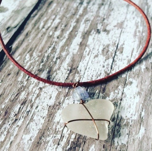 White Heart Sea Glass Necklace, Third Wedding Anniversary Gift, Beach Necklace For Women, Nautical Necklace For Her, Ocean Jewelry For Women by Bohojewellerybox on Etsy https://www.etsy.com/uk/listing/586523365/white-heart-sea-glass-necklace-third