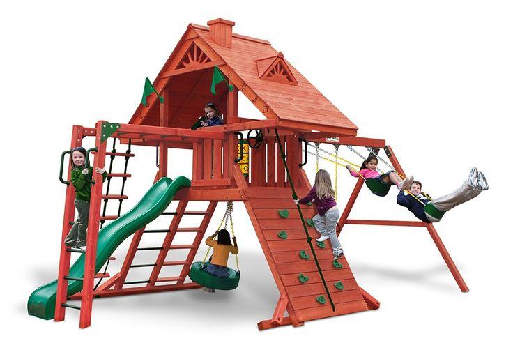 Gorilla Playsets Sun Palace II Wood Swing Set (01-0013)