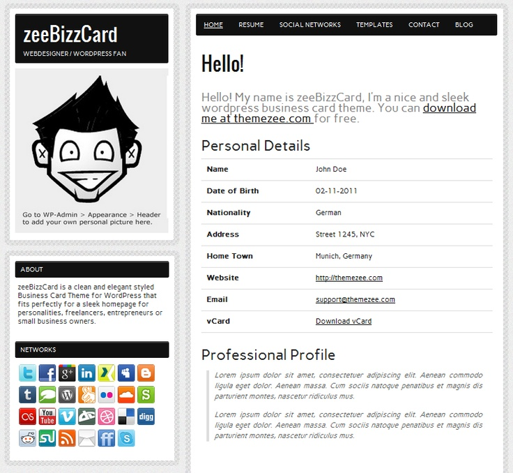 Build an Online Resume in Minutes with the Free zeeBizzCard