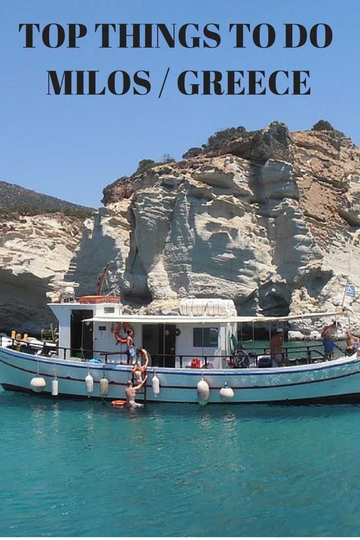 Top 5 things to do in Milos Island in Greece