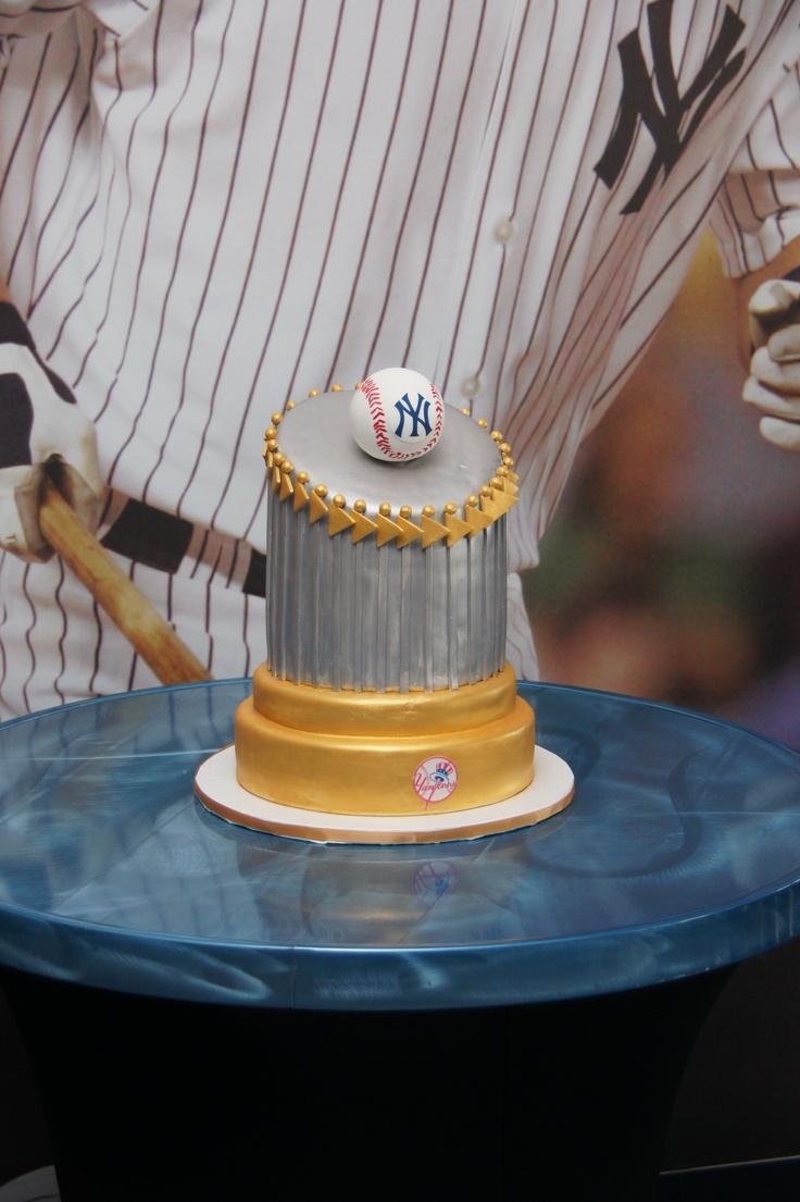 Yankee trophy themed 3D cake