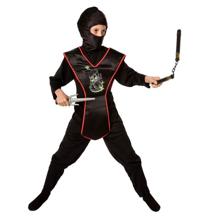 Boys' Ninja Costume Kit - One Size Fits Most, Boy's, Size: M(7-8)