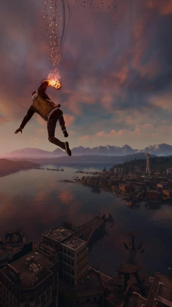Iphone X 4k Wallpapers Infamous Second Son Smoke Ability City View 4k Android And Iphone Wallpaper Download Free Jeux Personnages Jeux Video