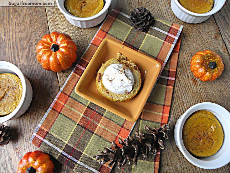 Healthy Pumpkin Pie Custard: Gluten Free & Low Carb   only 76 calories!