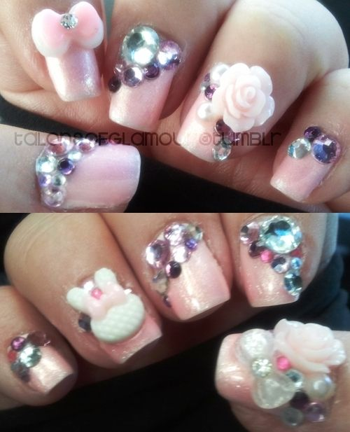 3d nail art | #benefitglam