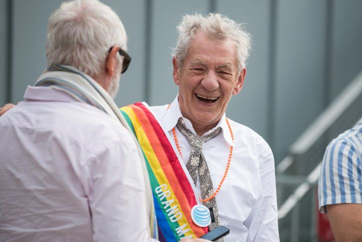 Pin for Later: 20 Epic Pride Photos From Around the World New York City Ian McKellan grinned from ear to ear in an NYC parade.