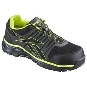 Reebok Arion Safety Toe Work Shoes for Men - Dual Resistor - Black/Green - 10.5 M