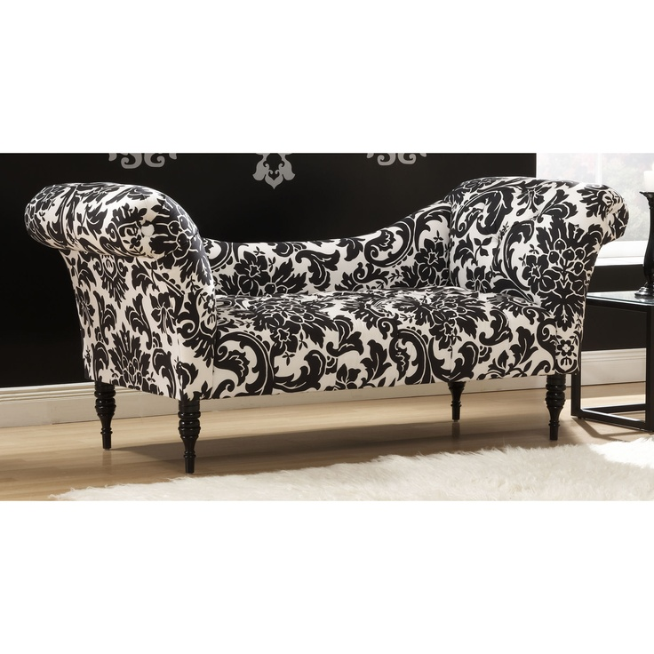 60 best images about sofa on pinterest upholstery for Black damask chaise longue