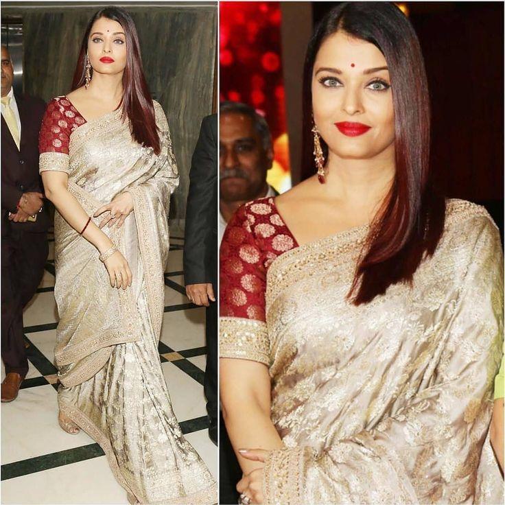 Spotted : Aishwarya Rai Bachchan looks as radiant as ever in @sabyasachiofficial gold saree✨  #INSTASHOP Sabyasachi by sending us a screenshot at +91-9990224411 #carmaonlineshop