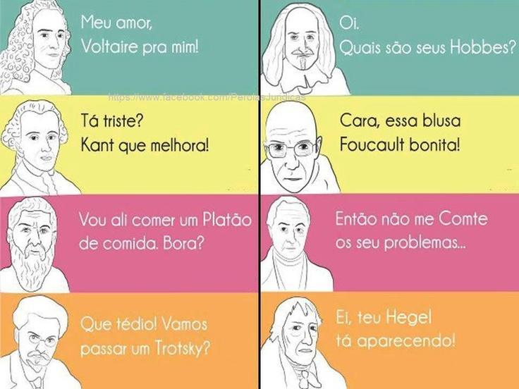 Filósofos do Direito  fonte: facebook.com/perolasjuridicas
