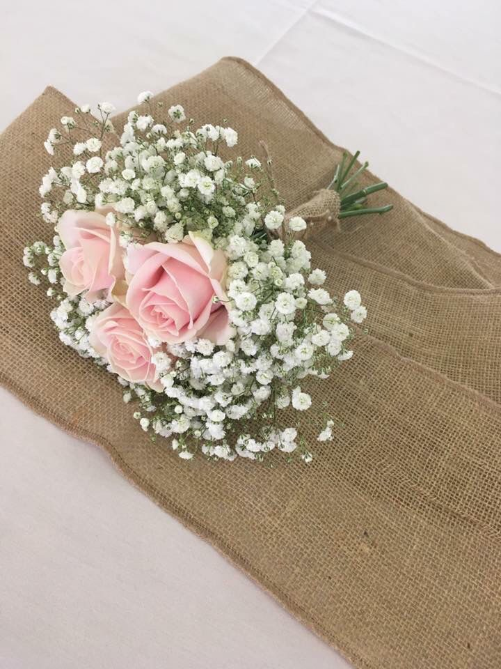 Pale pink roses and gypsophila  Www.thelythamweddingcompany.co.uk