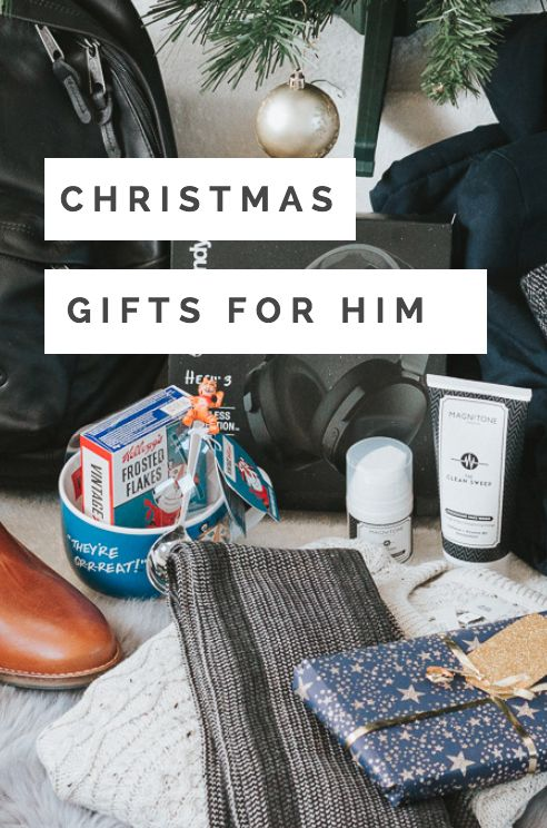 Christmas Gifts for Him - Christmas Gift Guide on whatshotblog.com featuring items for casual, active, business and daily essentials.