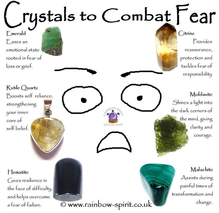 Crystal healing suggestions for protection and healing properties that help overcome fear