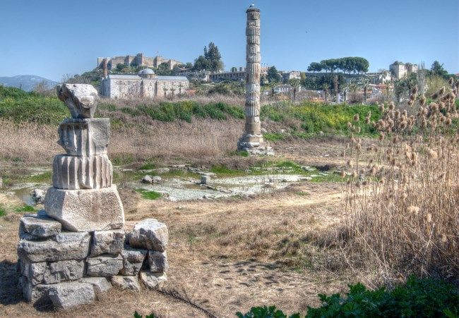 Temple of Artemis at Ephesus, Selcuk, Turkey