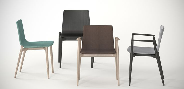 Sillas de Diseño Malmö por Pedrali, Diseñadores Cazzaniga Mandelli Pagliarulo