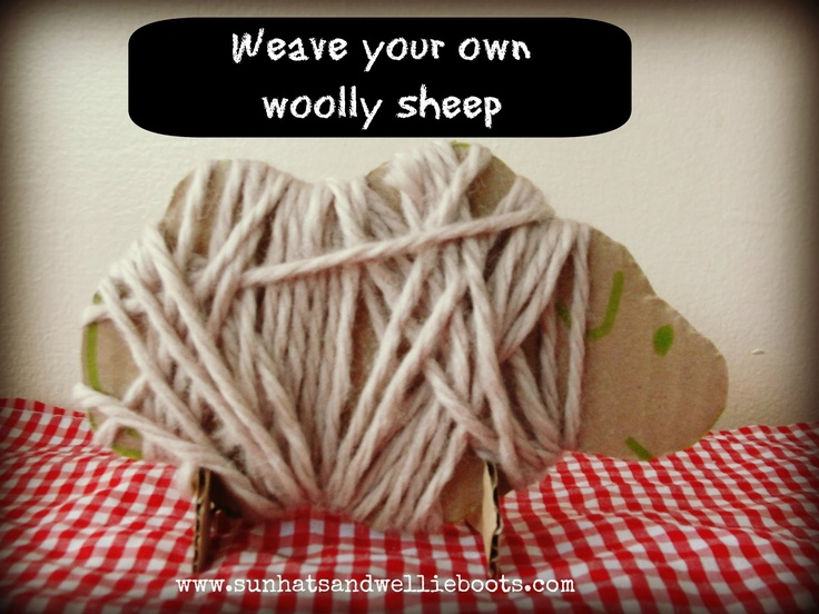 Sun Hats & Wellie Boots: Weave your own Woolly Sheep