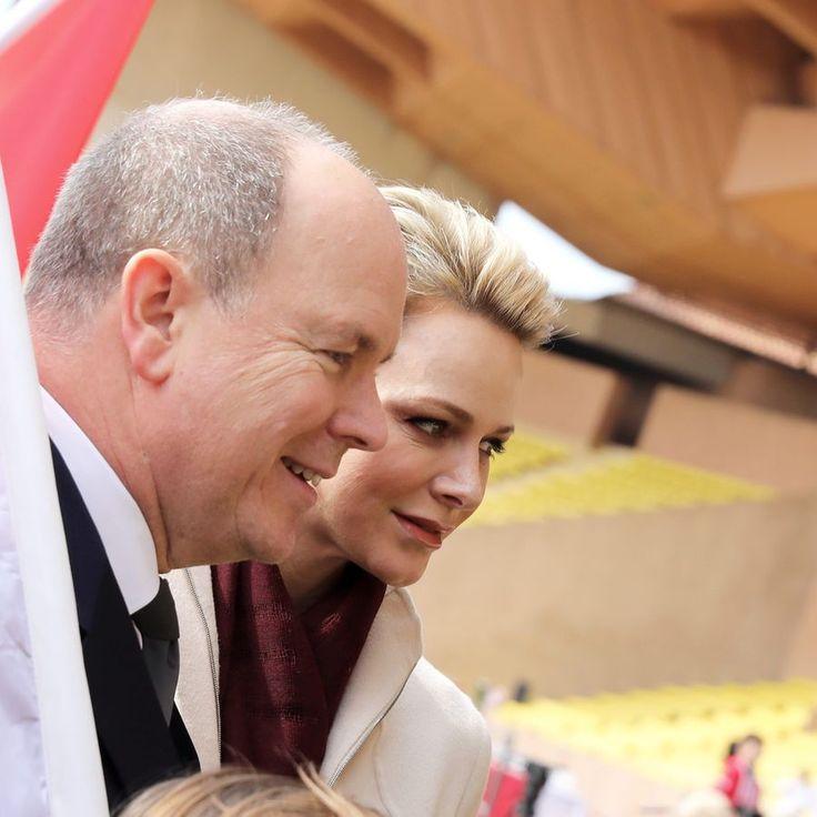 Charlène de Monaco et le prince Albert au Tournoi Sainte Dévote de Rugby