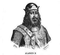 ARTICULO 3 - 24 - Con la muerte del rey visigodo Alarico II, yerno de Teodorico, en la batalla de Vouillé contra los francos de Clodoveo, el rey ostrogodo asume la tutoría de su nieto Amalarico y se reserva el dominio sobre la totalidad de Hispania y sobre una parte de Galia.