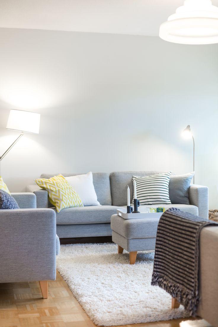 Light grey sofas