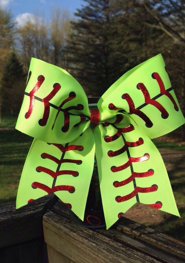 A personal favorite from my Etsy shop https://www.etsy.com/listing/292698659/softball-bow
