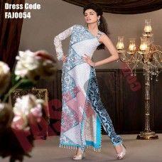 Elegence White and Sky Blue Pakistani Embroideried dress by Asim Jofa  Beautifull White and Sky Blue Latest Pakistani Dress, Printed and Embroideriy by Asim Jofa's 2013 collection.  Shirt : Fully Emmbroideried Front and Printed back. Sleeves : Printed sleeves. Dopatta : Printed Shifon Shalwar / Trouser : Plain Price 89.00 http://fash9.com/Asim-Jofa/Elegence-White-and-Sky-Blue-Pakistani-Embroideried-dress-by-Asim-Jofa