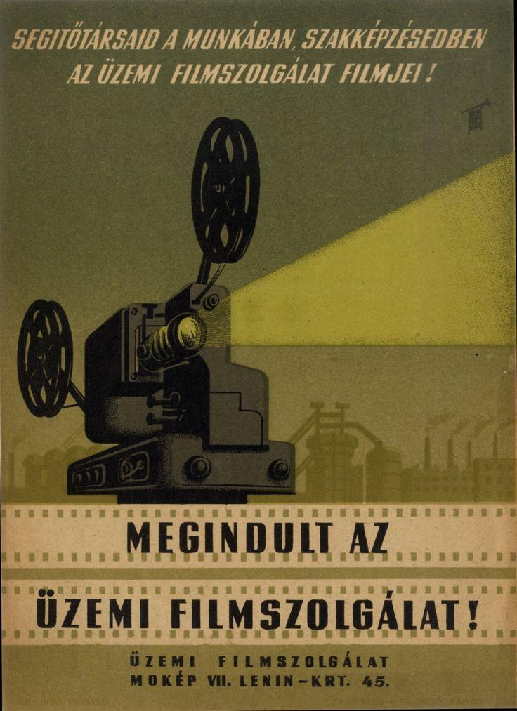 Megindult az üzemi filmszolgálat! 1952