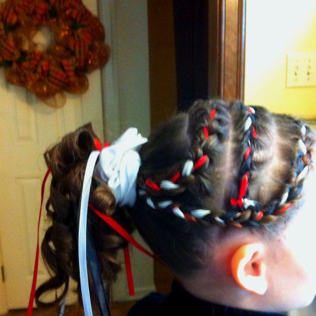 Love the braids!: Hair Ideas, Alena Hair, Color, Cheer Hair, Dancer Hair, Elizabeth S Hair, Diy Nails Hair, Meet Hair, Cool Ideas