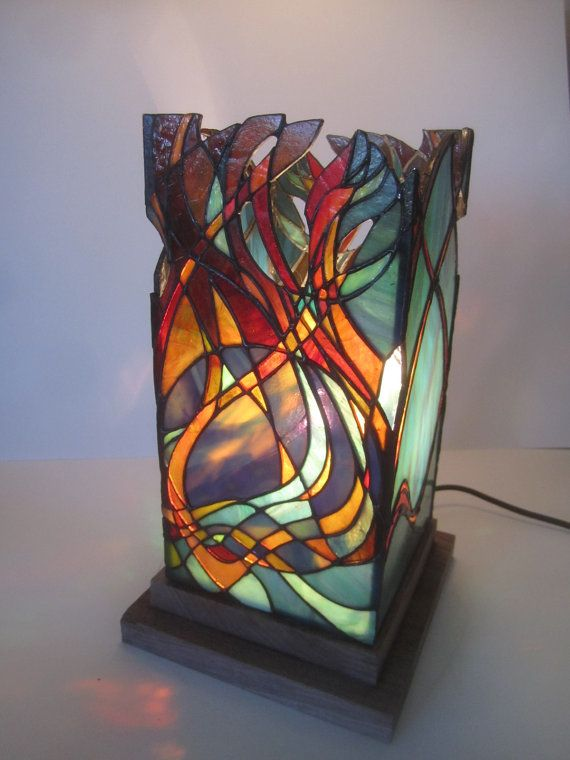 Unique stained glass lantern. by JButlerArt on Etsy, $650.00