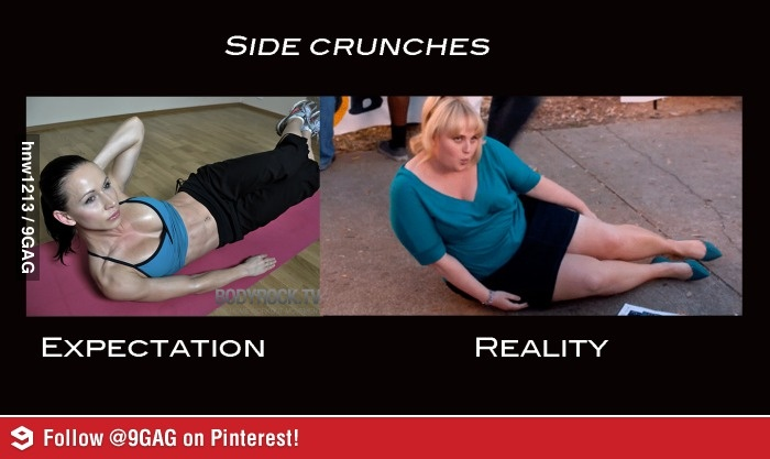 This has unfortunately happened to me.... Jillian Michaels makes it look so easy...bitch!!!! LMAO