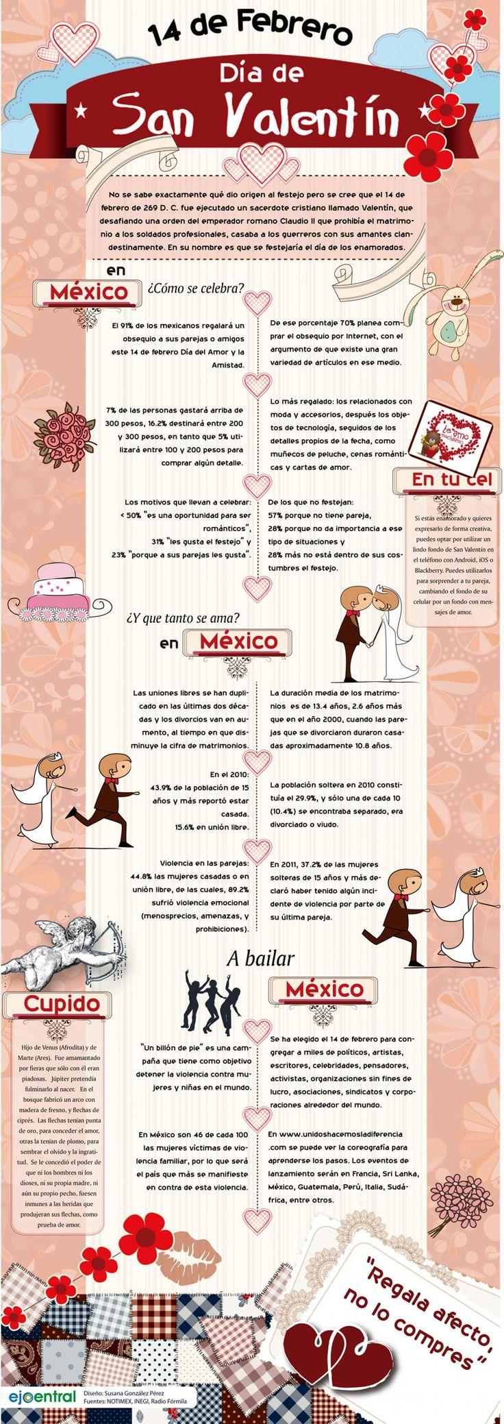 México celebra san valentin Infographic
