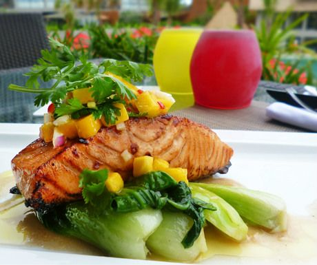 Recipe of the week: Atlantic salmon, maple soy, sesame bok choy and Phuket mango salsa - A Luxury Travel Blog