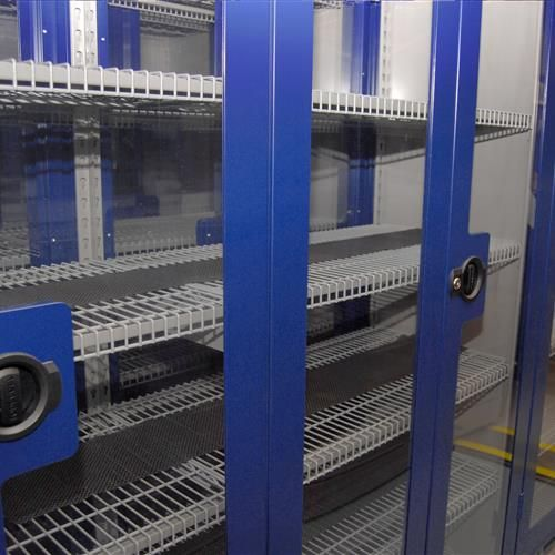 """""""The customer needed the storage to be a bit more airtight - less of a cabinet and more of a shelf. So we sealed the seams of the 4-post unit  with silicone caulk, cut openings in the canopy tops, and installed the bottom vents for the HVAC."""" - Fred Hallstall, Life Science Manger, Donnegan Systems 