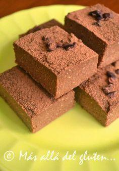Más allá del gluten...: Cuadritos de Coco y Chocolate sin Hornear (Receta GFCFSF, Vegana, RAW)