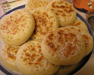Crumpets. So much better than an English muffin.