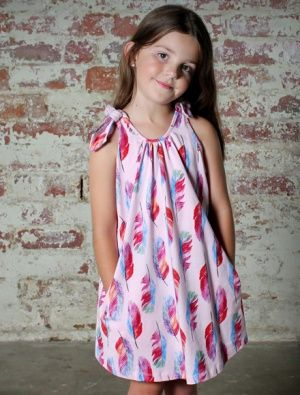 Buy Minti Bow Tie Dress Feathers Pink