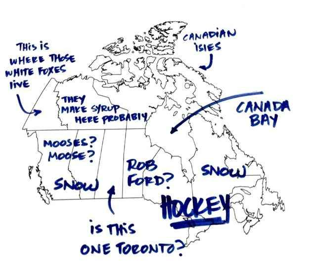 """Mooses? Moose? Is this one Toronto?"" 