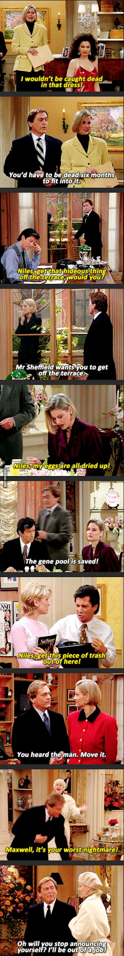 Niles: king of sass