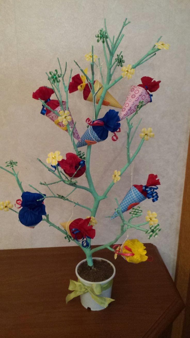 Einschulung Zuckertütenbaum