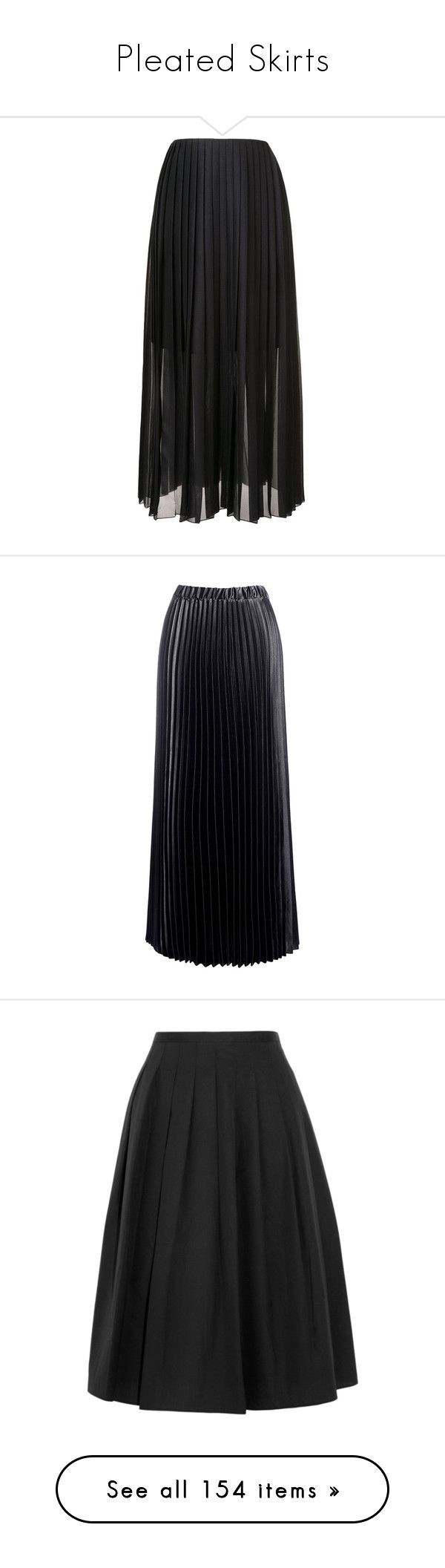 """""""Pleated Skirts"""" by heloisacintrao ❤ liked on Polyvore featuring skirts, bottoms, pleated skirt, long pleated skirt, pleated maxi skirt, floor length skirt, long skirts, black, satin pleated skirt and elastic waist maxi skirt"""