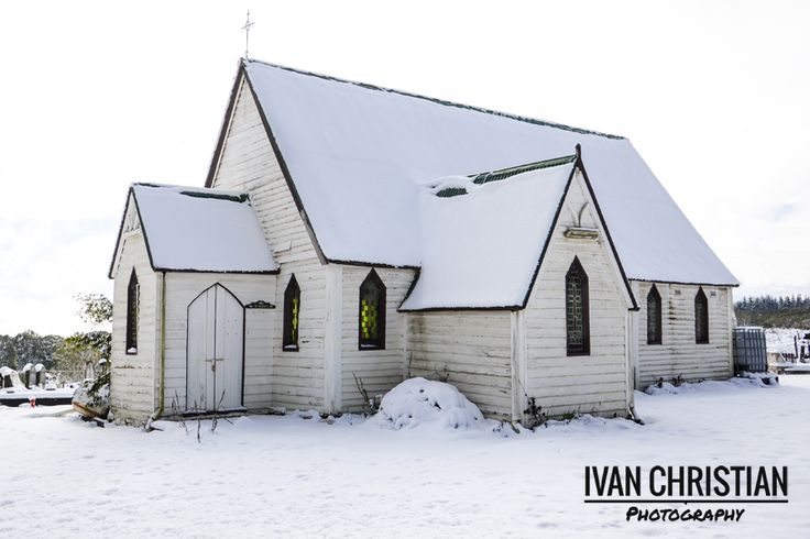 Kirkconnell Catholic Church covered in snow. A little different from last time I photographed it for a wedding! - Ivan Christian Photography
