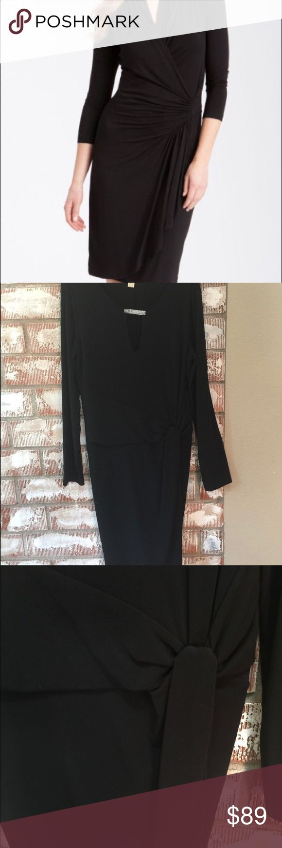♠️Michael Kors♠️ Little black dress! ♠️Michael Kors♠️ Little black dress! Perfect for the holidays, office, evening out! Pair with sparkly clutch for holiday party or for the office add pumps! ENJOY!!💋 Michael Kors Dresses