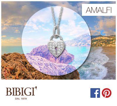 #Bibigi : Ciondoli in oro bianco e diamanti Collezione Amalfi