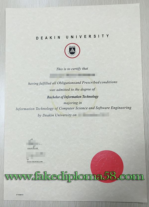 deakin university degree sample