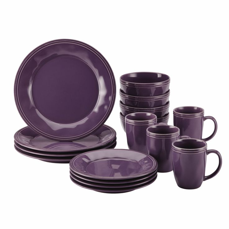 Experience the warm, welcoming appeal of the Rachael Ray Cucina Dinnerware 16-Piece Stoneware Dinnerware Set.