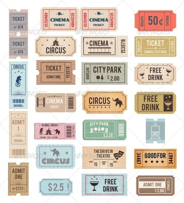 118 best Ticket Template images on Pinterest Event tickets - raffle ticket template