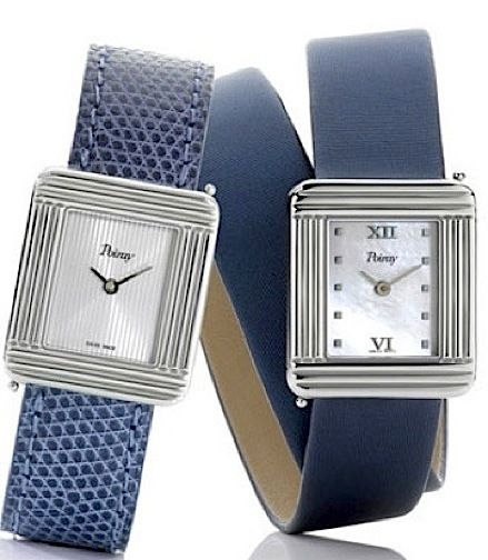 "WOMEN'S WATCHES–THE SKINNY - ""*Poiray*"":http://www.poiray.com _Ma Première_ white gold or stainless-steel watches on custom straps"