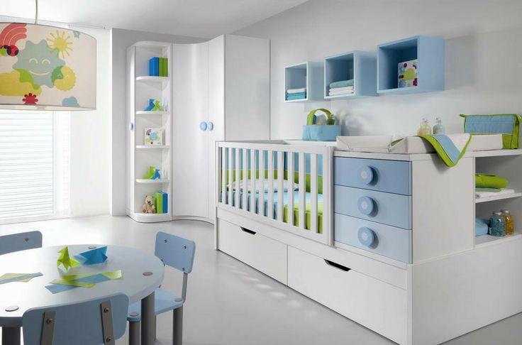 Azul y Verde para la Habitación del Bebe